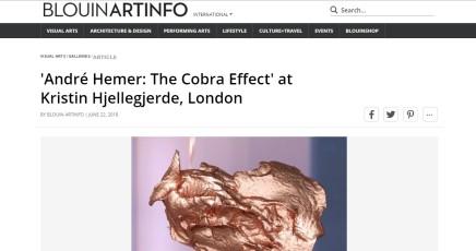 'André Hemer: The Cobra Effect' at Kristin Hjellegjerde, London