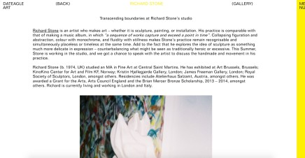 Transcending Boundaries at Richard Stone's Studio