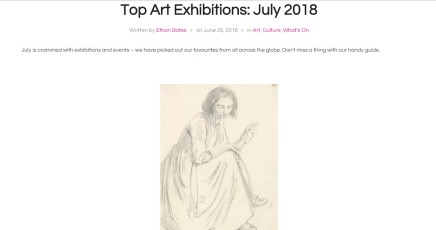 Top Art Exhibitions: July 2018
