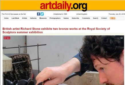 British artist Richard Stone exhibits two bronze works at the Royal Society of Sculptors summer exhibition