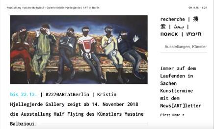 Art at Berlin, Yassine Balbzioui