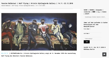 Yassine Balbzioui | Half Flying | Kristin Hjellegjerde Gallery | 14.11.-22.12.2018