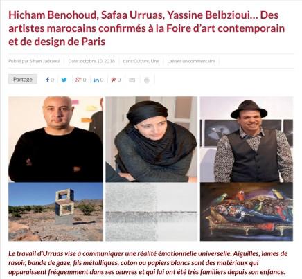 Hicham Benohoud, Safaa Urruas, Yassine Belbzioui… Des artistes marocains confirmés à la Foire d'art contemporain et de d