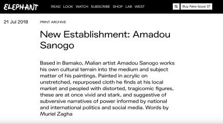 New Establishment: Amadou Sanogo