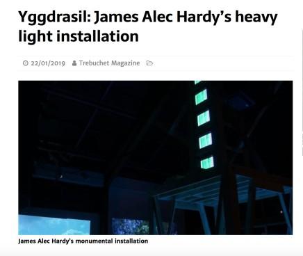 Yggdrasil: James Alec Hardy's heavy light installation