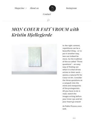 Mon Coueur Fait Vroum with Kristin Hjellegjerde