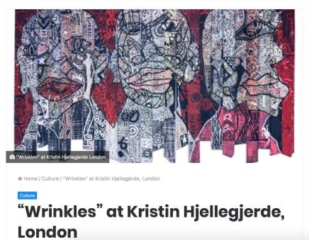 Wrinkles at Kristin Hjellegjerde Gallery