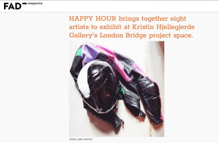 HAPPY HOUR brings together eight artists to exhibit at Kristin Hjellegjerde Gallery's London Bridge project space.