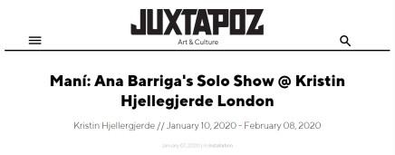 Maní: Ana Barriga's Solo Show @ Kristin Hjellegjerde London