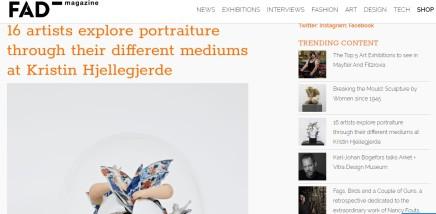 16 artists explore portraiture through their different mediums at Kristin Hjellegjerde