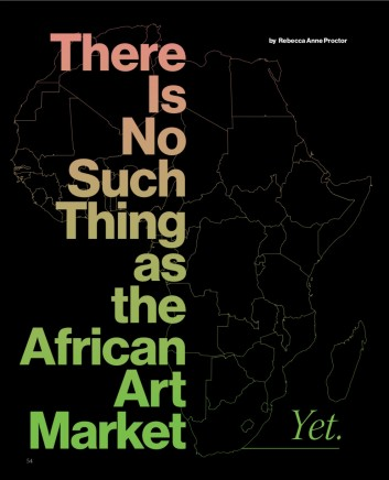 There Isn't Such Thing as the African Art Market.... Yet
