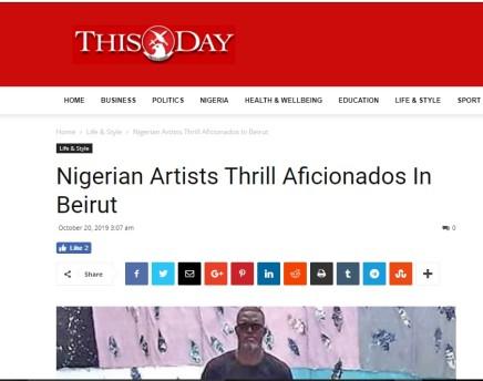 Nigerian Artists Thrill Aficionados In Beirut