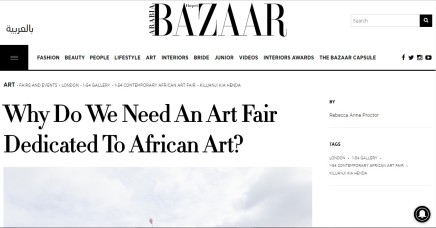 Why Do We Need An Art Fair Dedicated To African Art?