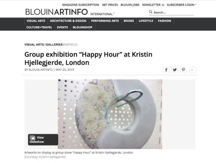 "Group exhibition ""Happy Hour"" at Kristin Hjellegjerde, London"