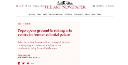 Togo opens ground-breaking arts centre in former colonial palace