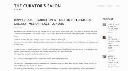 HAPPY HOUR - EXHIBITION AT KRISTIN HJELLEGJERDE GALLERY, MELIOR PLACE, LONDON