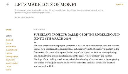 Subsidiary Projects: Darlings of the Underground