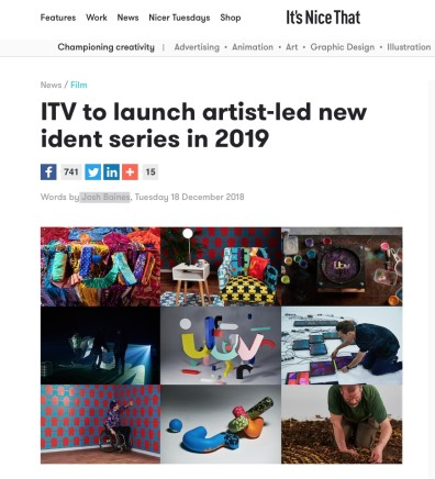 ITV to launch artist-led new ident series in 2019