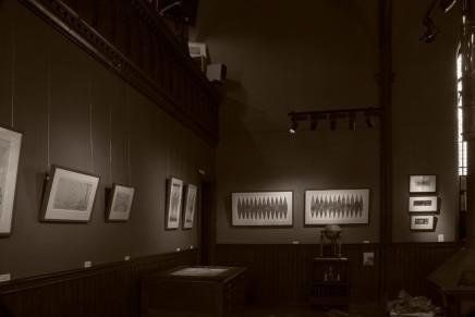 Robert Powell works in Kilmorack Gallery, September 2019