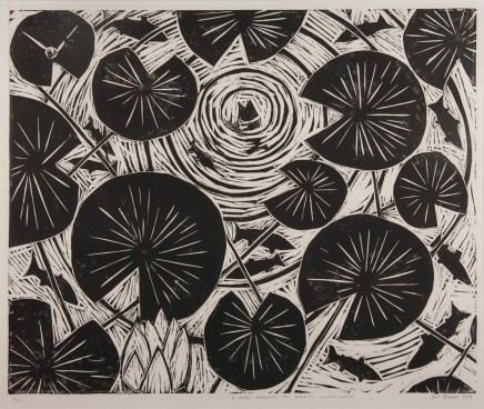 Paul Bloomer, A Shoal amongst the Lillies - Lunga Water, 2002