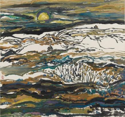 Wu Yi, Dunhuang on a Moonlit Night, 1990