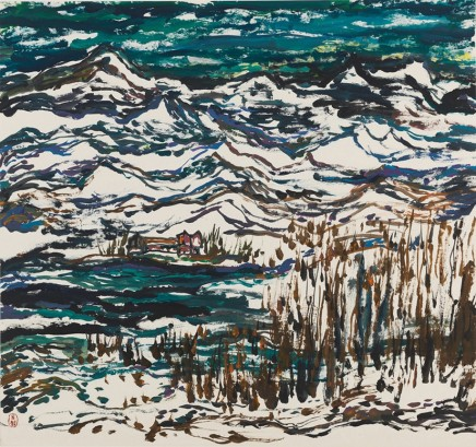 Wu Yi, Snow-capped Mountains, 1990