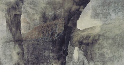 Li Huayi, Red Trees and Wrinkled Cliffs, 1994