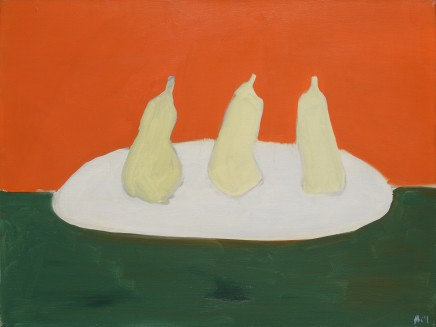 Nicolas de Staël, Nature morte, poires, fond vert et orange, 1954