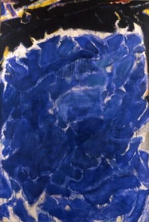 "Sam Francis, ""Deep Blue and Black or Black Blue"", 1955"