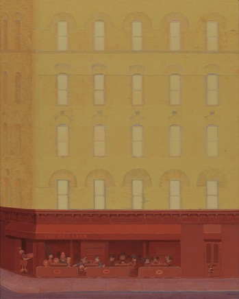 Zhang Gong, Café in Yellow and Red , 2013
