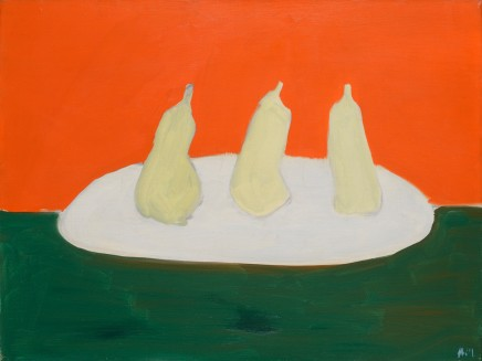 "Nicolas de Staël, ""Nature morte, poires, fond vert et orange"", 1954"
