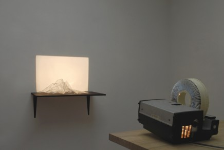 Francisco Ugarte Montañas de Luz, 2012 Projector and plastic. Installation view Dimensions vary (FU 001)