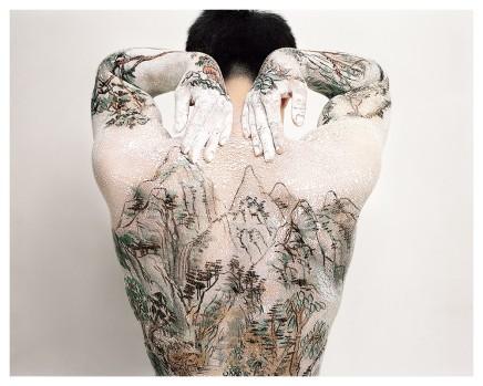 Huang Yan 黃岩, Chinese Shan-shui tattoo No.10, 1999