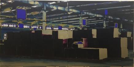 李易纹 Li Yiwen 《矩阵-3》Matrix,布面丙烯 acrylic on canvas, 400X200cm, 2017-18年