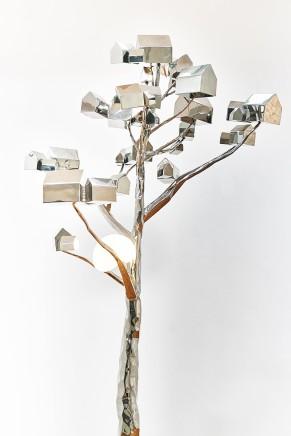 冯力仁 Fung Lik-yan Kevin Habitat 2019 栖息2019 Free standing 立雕 Material : Stainless steel 材质:不锈钢 Dimension 尺寸: 1m x 1m x 2m(h)