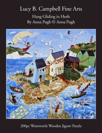 Anna Pugh Jigsaw Puzzle - OUT OF STOCK, 'Hang Gliding in Heels' - 200 piece puzzle