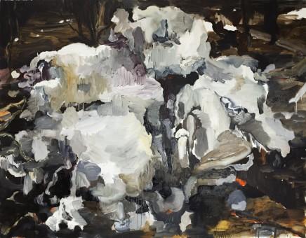 Jenny Carlsson: Svavelår no 5, 2013 (Oil on canvas, 140 x 180 cm / 55.1 x 70.9 inches)