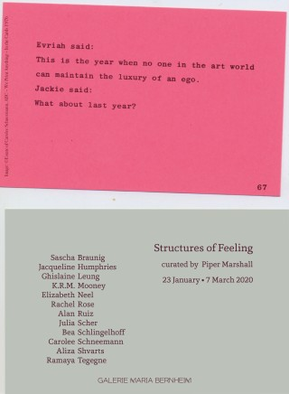 Structures of Feeling curated by Piper Marshall