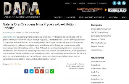Galerie Ora-Ora opens Nina Pryde's solo exhibition 'Infinity'