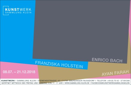 """""""Hängung #19: Enrico Bach, Franziska Holstein, Ayan Farah"""" at Kunstwerk Sammlung Klein"""