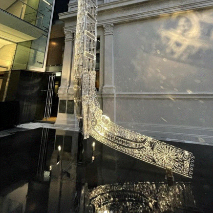 Shimmering 10m crystal waka unveiled at Auckland Art Gallery
