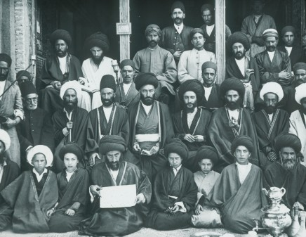 Not known, Group of Mullas and Saids taken at a Said's house in Nar-ha-band, Late 19th Century