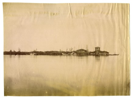 Antoin Sevruguin, The Engeli Lake (view of the Shah's palace), Late 19th Century
