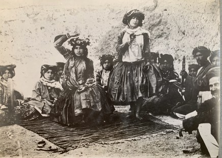 Antoin Sevruguin, A group of Kurdish dancers, Late 19th Century or early 20th Century