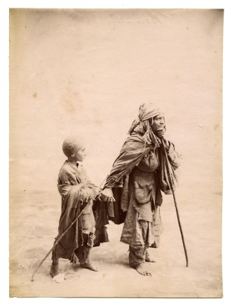 Antoin Sevruguin, A poor woman and a child, Late 19th Century