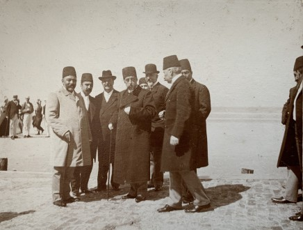 Not known, Mozaffar ad-Din Shah Qajar with senior officials, Late 19th Century, early 20th Century