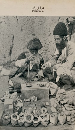 Antoin Sevruguin, An Attar or seller of perfumes, herbal medicines and spices, Late 19th Century