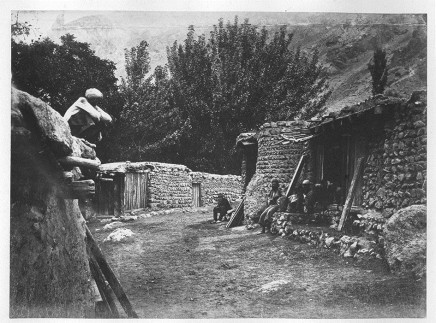 Antoin Sevruguin, A mountain village, Late 19th Century