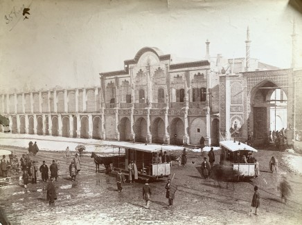 Antoin Sevruguin, The Imperial Bank of Persia, Maydan-i Tupkhana, Tehran, Late 19th Century