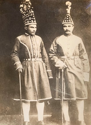 """Antoin Sevruguin, Two Persian court runners (""""Shatirs""""), Late 19th Century, Early 20th Century"""
